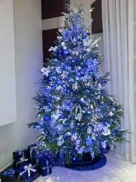christmas trees decorated in blue. Contemporary Blue Blue Christmas Tree Decorations Ideas Intended Trees Decorated In I
