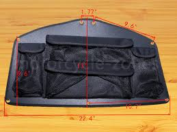Motorcycle Black <b>Trunk Lid Organizer</b> Tool <b>Rear</b> Bag For Honda ...