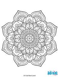 mandala art déco mandala vine coloring page