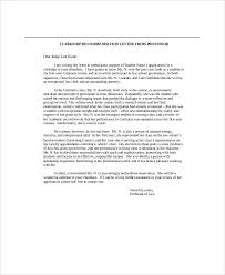 Sample Recommendation Letter From Professor 7 Examples In