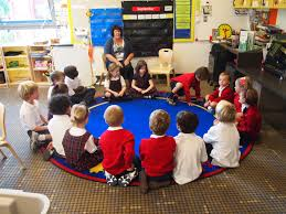 Image result for sitting on carpet in kindergarten
