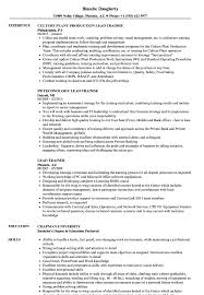 Trainer Resume Sample Lead Trainer Resume Samples Velvet Jobs 79