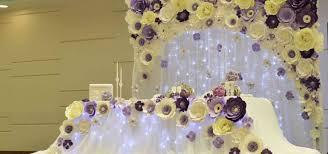 Paper Flower Wedding Decorations Paper Flower Backdrop For Wedding Under Fontanacountryinn Com