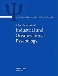 industrial psychology apa handbook of industrial and organizational psychology