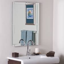 Bathroom Fixture Grey Square Shelf Driftwood Cabin Frameless Bathroom Mirror  Double Vanity Fog Free Wall Mounted Both Large Faucet Pewter