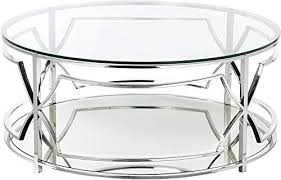 new benzara bm191591 glass round coffee