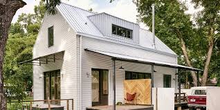 corrugated metal panels on a modern farm style home