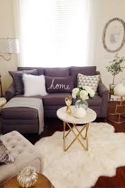 round living room furniture. Enchanting Cheap Living Room Furniture Letter L Purple Sofa Acymetric White Fur Rug Gold Color Leg Wooden Rounded Table Cushion Round A