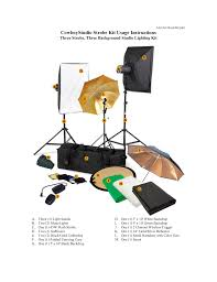 Cowboy Studio Strobe Lighting Kit Cowboystudio Strobe Kit Usage Instructions Manualzz Com
