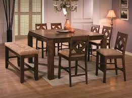 coaster furniture dining set coaster pines counter height dining table with