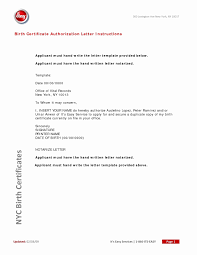 Get Birth Certificates Luxury New Sample Authorization Letter To Get