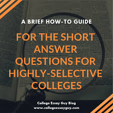 A Brief How To Guide For The Short Answer Questions For Highly