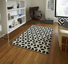 fusion black cream rug fs04
