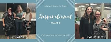 Inspirational Awards Sandy Boyd Crystal Gardiner Lcfasd