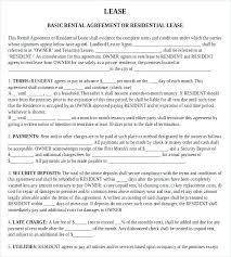 Residential Rental Agreement Unique Free Commercial Lease Agreement Template Legal Landlord Tenant