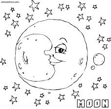 Small Picture Moon coloring pages Coloring pages to download and print