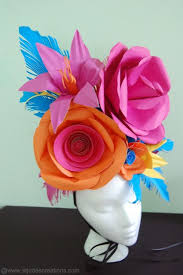 Paper Flower Hats Large Paper Flower Hat Paper Flowers Flower Hats