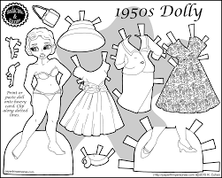 Small Picture 1950s Retro Fashion Paper Doll