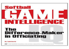 Softball Game Schedule Maker Read Pdf Softball Game Intelligence The Difference Maker In Offici