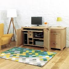 oak hidden home office. Aston Solid Oak Hidden Home Office