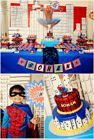 Boys Party Ideas A Spiderman Inspired Super Hero Birthday Party