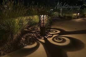 Nightscaping Low Voltage Lighting 6x6 Estate Series Corten Outdoor Lighting Bollard