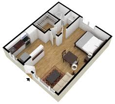 More  Bedroom D Floor Plans Within Amazing One Bedroom - Studio apartment floor plans 3d