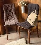 Связать на спицах накидку на стул