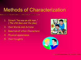 Methods Of Characterization Elements Of Fiction Setting Character Plot Point Of View