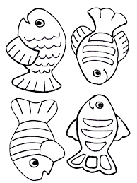 Free Creation Coloring Page Fish Printables And Templates Free
