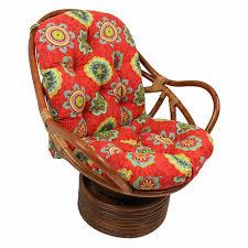 bali rattan swivel rocking chair with cushion