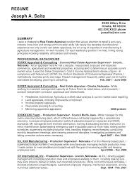 Commercial Real Estate Appraiser Sample Resume Real Estate Resumes Appraiser Sample Resumes Estate Resume Example 4