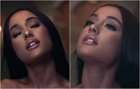 these are the only screenshots i could just about capture of the makeup and i feel like in other parts of the video she was just wearing lashes and gloss