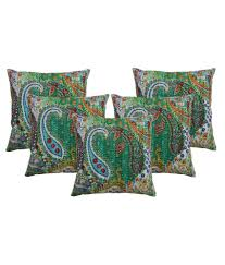 Paisley Sofa rajcrafts rajasthani paisley print kantha work sofa cushion covers 5869 by xevi.us