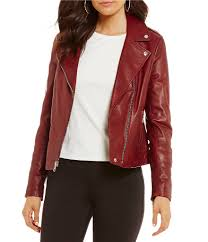 moto womens gianni bini jordan moto genuine leather jacket brick gift to live