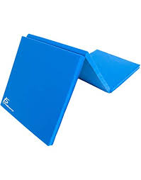 prosourcefit tri fold folding thick exercise mat 6 x2 with carrying handles for