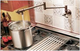 Kitchen Pot Filler Faucets Moen S664orb Traditional Pot Filler Two Handle Kitchen Faucet Oil