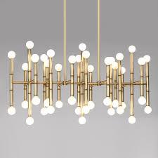 meurice rectangle chandelier  modern lighting  jonathan adler