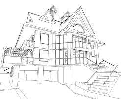 architecture design house drawing. Architectural Perspective Of Modern House, Drawn By Hand Stock . Architecture Design House Drawing U