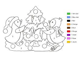 Coloriage Magique Noel Grande Section L L