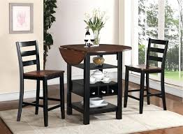 three piece dining set. 3 Piece Kitchen Table Elegant Counter Height Dining Set In Black And Cherry Two . Three