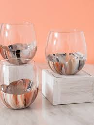 marble paint your own wine glasses it s super easy