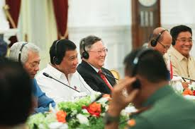 Us Cabinet Secretaries Filepresident Rodrigo Duterte Is Seen Smiling With His Cabinet
