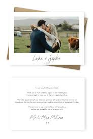 Wedding Thank You Notes 9 Wording Examples For Your Wedding Thank You Cards For The Love