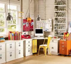Colorful feminine office furniture Workspace Decoist Bedford 4drawer Corner Desk Pottery Barn