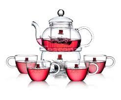 teapot warmer set glass tea set with 4 small tea cups 600 ml