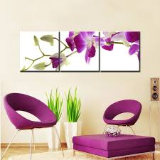 3 panels digital prints purple orchid canvas painting modern art pictures decorative unframed wall art living on purple orchid wall art with 3 panels digital prints purple orchid canvas painting modern art