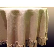 natural burlap table cover 90 round fringed