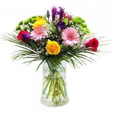 Image result for cerise and green flowers in vases
