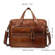 "<b>JOYIR Men's</b> Briefcases Genuine <b>Leather</b> 15.6"" Laptop Office ..."